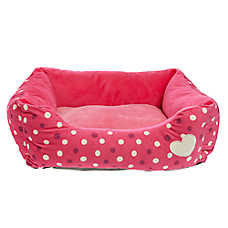 Grreat Choice® Heart & Dots Cuddler Pet Bed