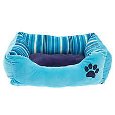 Grreat Choice® Paw & Stripes Cuddler Pet Bed