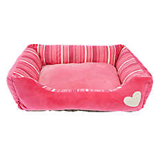 Grreat Choice® Heart & Stripes Cuddler Pet Bed