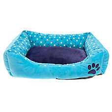 Grreat Choice® Paw & Dots Cuddler Pet Bed