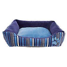 Grreat Choice® Paw & Stripes Cuddler Pet Bed