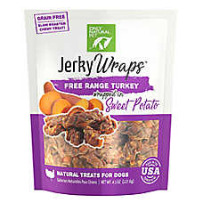 Only Natural Pet Jerky Wraps Dog Treat - Natural, Grain Free, Free Range Turkey