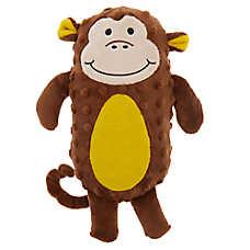 Grreat Choice® Safari Monkey Dog Toy - Plush, Squeaker