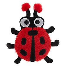 Top Paw® Ladybug Flattie Dog Toy - Crinkle