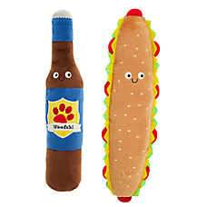 Top Paw® Beer & Sub Dog Toys - 2 Pack