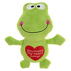 Grreat Choice® Valentine's Day Frog Dog Toy - Plush, Squeaker
