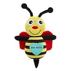 Grreat Choice® Valentine's Day Bee Dog Toy - Plush, Squeaker