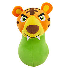 Grreat Choice® Wobbles Squeaker Ball Tiger Dog Toy