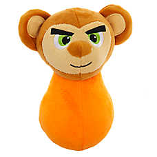 Grreat Choice® Wobbles Squeaker Ball Monkey Dog Toy