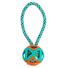Top Paw® Ball with Rope Tug Dog Toy