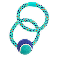 Top Paw® Rope Rings with Tennis Ball Dog Toy