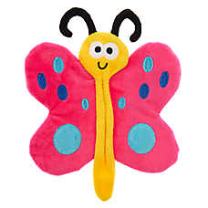 Top Paw® Butterfly Flattie Dog Toy - Crinkle, Squeaker