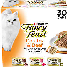 Fancy Feast® Classic Pate Collection Cat Food - Poultry & Beef, Variety Pack, 30ct