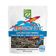 Only Natural Pet All Meat Bites Dog Treat - Grain Free, Freeze Dried Raw, Wild Caught Minnows