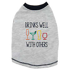 "Top Paw® ""Drinks Well with Others"" Pet Tee"