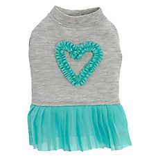 Top Paw® Heart Pleated Pet Dress