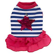 Top Paw® Star & Stripes Ruffle Pet Dress
