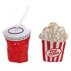 Whisker City® Snack Attack Popcorn & Soda Cat Toys - 2 Pack