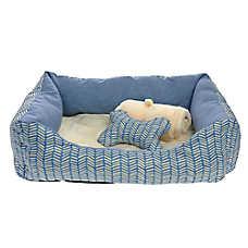 Grreat Choice® Herringbone Cuddler Pet Bed Gift Set
