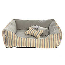 Grreat Choice® Stripes Cuddler Pet Bed Gift Set