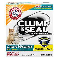 ARM & HAMMER™Clump & Seal LightWeight Cat Litter - Clumping, Multi-Cat, Unscented