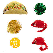 Whisker City® Snack Attack Taco Cat Toys - 6 Pack