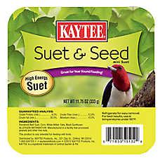 KAYTEE® Suet & Seed Wild Bird Suet