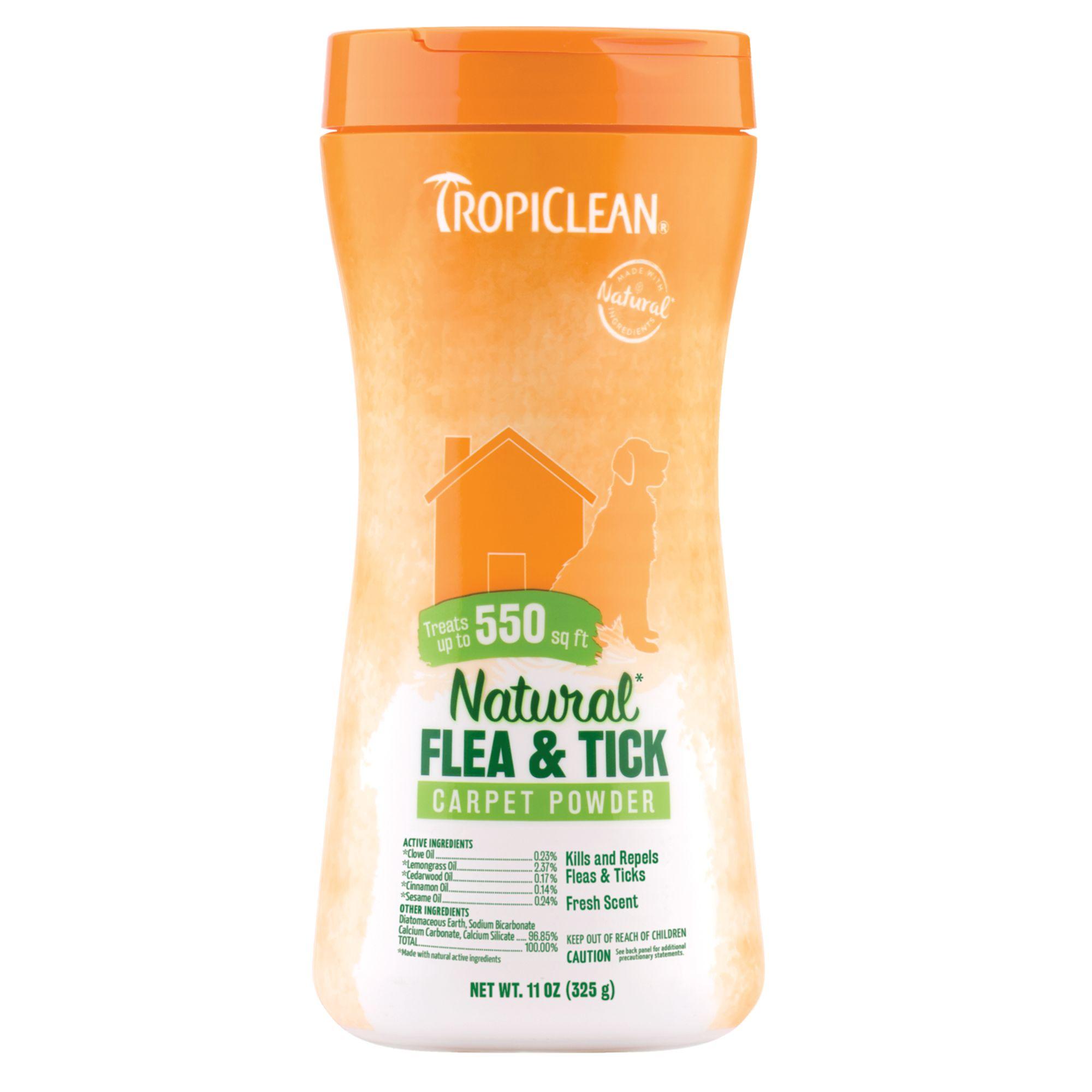 Tropiclean Natural Flea Tick Carpet Powder