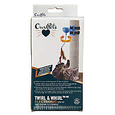 OurPets® Twirl & Whirl™ Electronic Spin Cat Toy