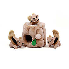 Outward Hound® Hide-a-Squirrel Puzzle Dog Toy - Plush, Squeaker