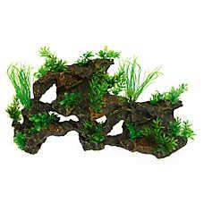 Top Fin® Leafy Rock Aquarium Ornament