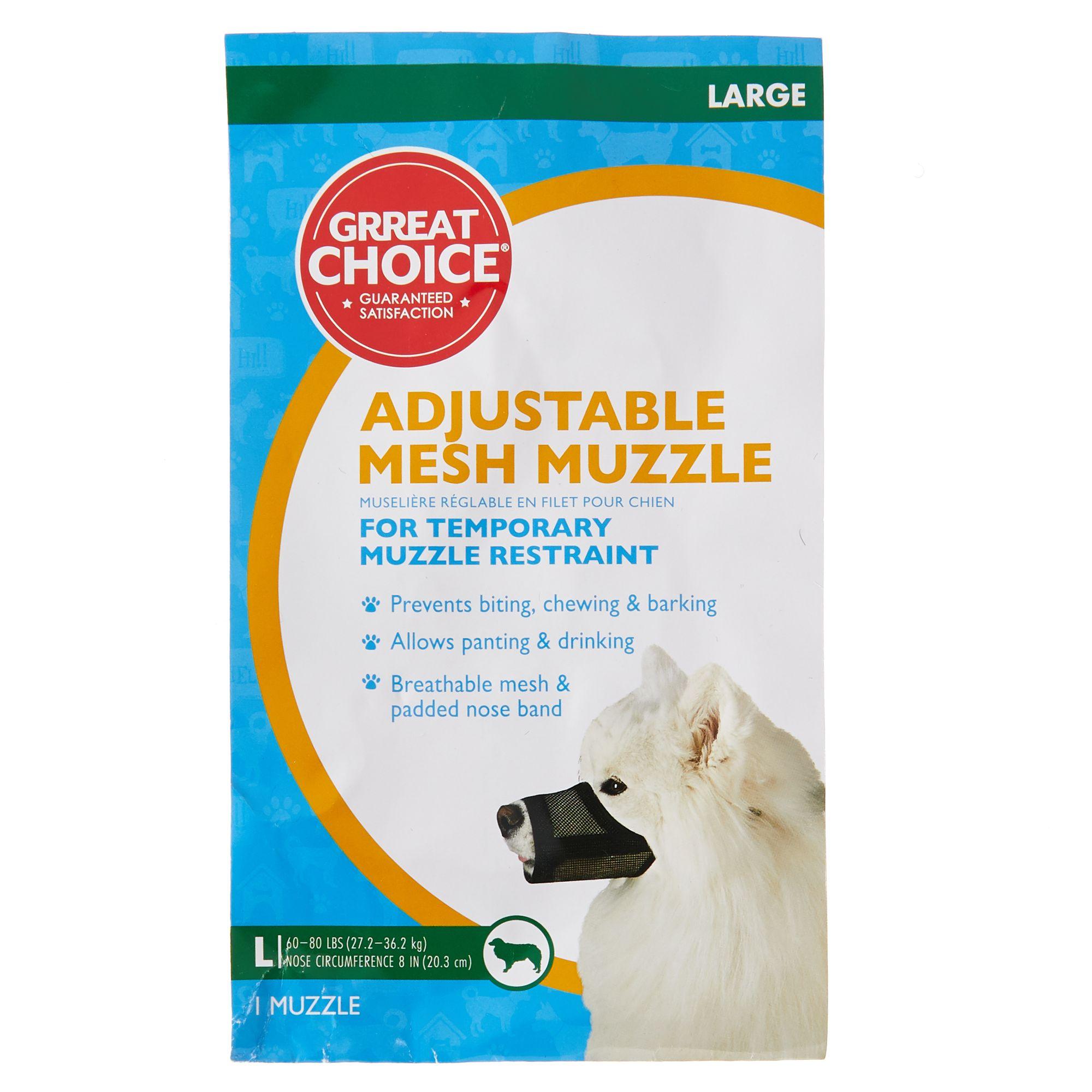 Dog Muzzle to Prevent Barking Eating Nylon Mesh Dog Muzzle Adjustable Breathable Soft Dog Muzzle to Prevent Biting Pet Muzzle for Dogs Anti-barking Anti Bite Dog Muzzle for Large Medium Small Dogs
