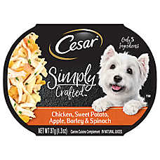 Cesar® Simply Crafted™ Dog Food Topper - Chicken, Sweet Potato, Apple, Barley & Spinach
