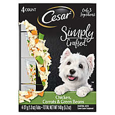 Cesar® Simply Crafted™ Dog Food Topper - Chicken, Carrots & Green Beans, 4ct