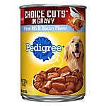 PEDIGREE® Choice Cuts om Gravy Adult Dog Food