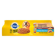PEDIGREE® Chopped Ground Dinner Adult Wet Dog Food - Variety Pack, 12 ct