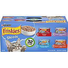 Purina® Friskies® Shreds Variety Pack, 32ct
