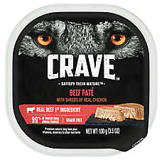 Crave Dog Food, Real Shreds of Meat - Natural, Grain Free Pate