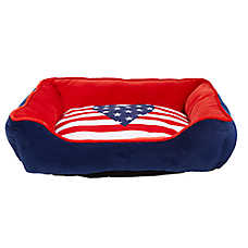Top Paw® Americana Heart Cuddler Pet Bed