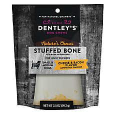 Dentley's® Nature's Chews Stuffed Bone Dog Treat - Cheese & Bacon