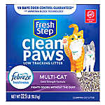 Fresh Step® Clean Paws with Febreze Cat Litter - Multi-Cat, Clumping, Scented