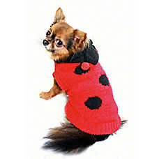 Hip Doggie Lady Bug Dog Sweater