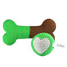 Hip Doggie Crochet Dog Toy Set