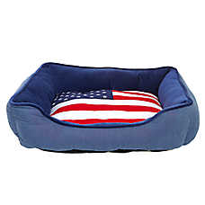 Top Paw® Americana Flag Cuddler Pet Bed