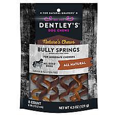 Dentley's® Nautre's Chews Bully Springs Dog Treat