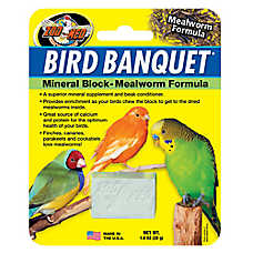 Zoo Med™ Bird Banquet® Mealworm Formula Mineral Block