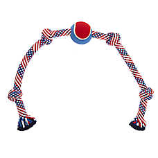Top Paw® Americana Knotted Rope & Tennis Ball Dog Toy