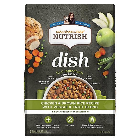 Rachael Raytrade Nutrish Dish Dog Food Natural Chicken Brown