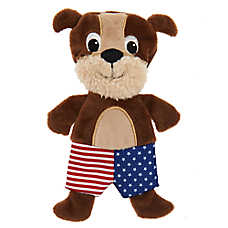 Top Paw® Americana Puppy Flattie Dog Toy - Crinkle, Squeaker