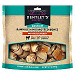 Dentley's® Gourmet Mini Rawhide Knotted Bones Dog Treats - Chicken